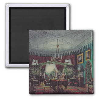 Drawing Room of Empress Alexandra Square Magnet