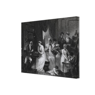 Drawing Room Scene, from 'The Social Day' by Peter Canvas Print