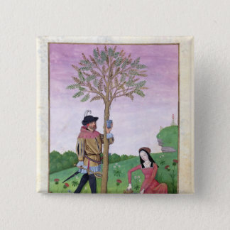 Drawing sap from a tree 15 cm square badge