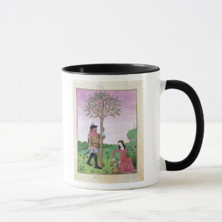 Drawing sap from a tree mug