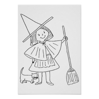 Drawing � to color for Halloween - Poster