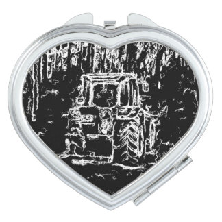 drawing tractor and nature travel mirror