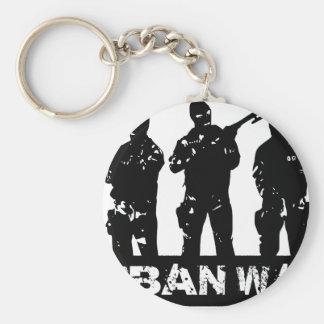 drawing urban war basic round button key ring