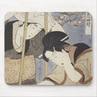 Drawing Water for Breakfast Utamaro 1795 Mousepa Mouse Mat