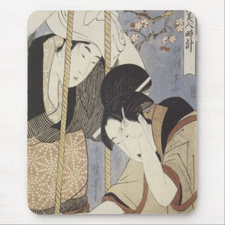 Drawing Water for Breakfast, Utamaro, 1795 Mousepa Mouse Pad