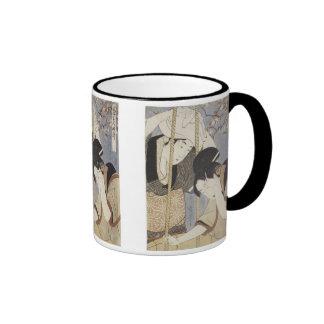 Drawing Water for Breakfast, Utamaro, 1795 Ringer Mug