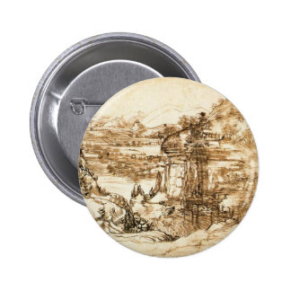 Drawings by Leonardo da Vinci 6 Cm Round Badge