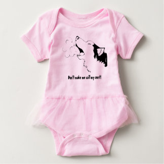 Drawn by DV Don't make me call my aunt outfit Baby Bodysuit