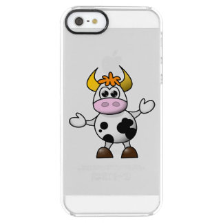 Drawn Cartoon Black and White Cow Bull iPhone 6 Plus Case