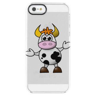 Drawn Cartoon Black and White Cow Bull iPhone 6 Plus Case