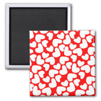 Drawn Hearts 2014 Square Magnet