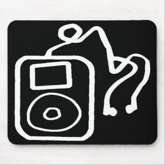 Drawn iPod Black Mousepad