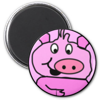Drawn Pig face Fridge Magnets