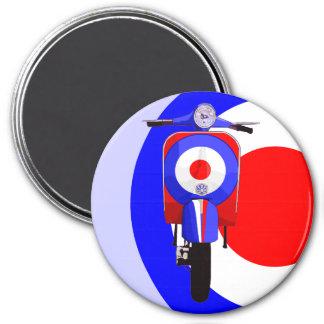 Drawn Scooter on half mod target 7.5 Cm Round Magnet