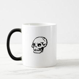 Drawn Skull 11 Oz Magic Heat Color-Changing Coffee Mug