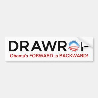 DRAWROF Barack Obama's FORWARD is BACKWARD Sticker Bumper Sticker