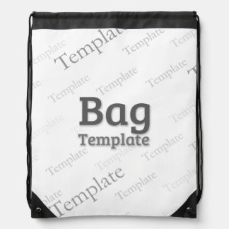 Drawstring Backpack Custom Template