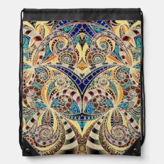 Drawstring Backpack Drawing Floral