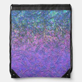 Drawstring Backpack Grunge Relief Background