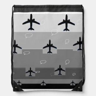 Drawstring backpack in grey