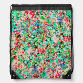 Drawstring Backpack Informel Art Abstract