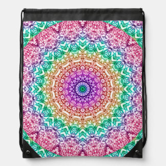 Drawstring Backpack Mandala Mehndi Style G379