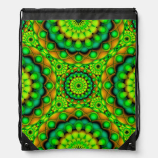 Drawstring Backpack Mandala Psychedelic Visions