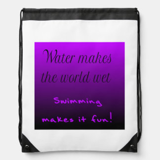 Drawstring bag - Swimming makes it fun!