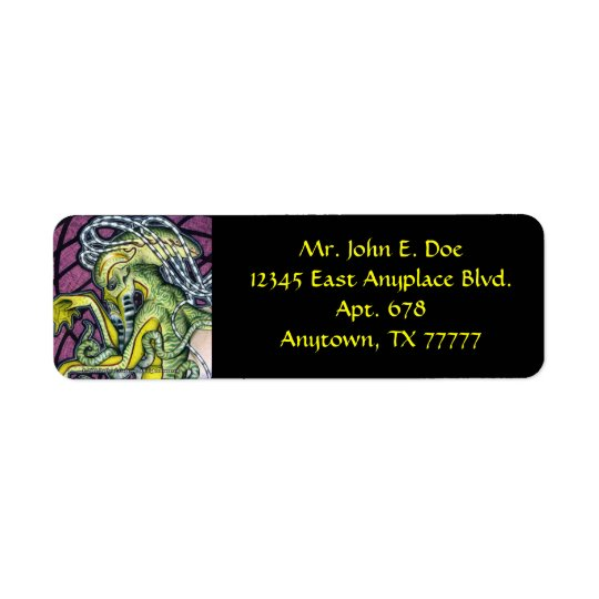 Dread Cthulhu Return Address Label