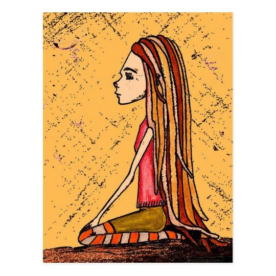 dreadlock girl postcard