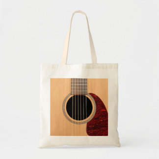 Dreadnought Acoustic six string Guitar Budget Tote Bag