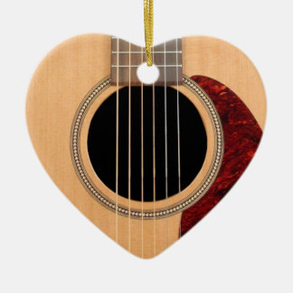 Dreadnought Acoustic six string Guitar Christmas Ornament