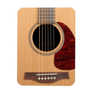 Dreadnought Acoustic six string Guitar Rectangular Photo Magnet