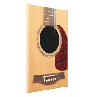 Dreadnought Acoustic six string Guitar Stretched Canvas Print
