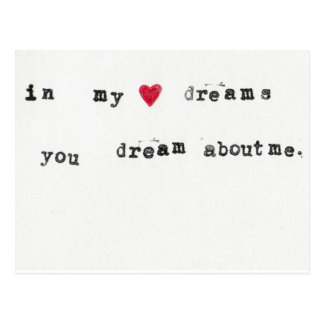 dream about me postcard