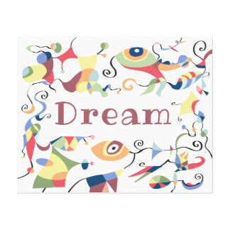Dream Abstract Decor Canvas for Child's Room