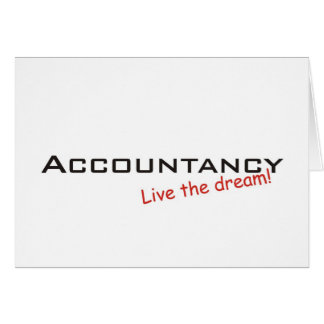Dream Accountancy Greeting Cards