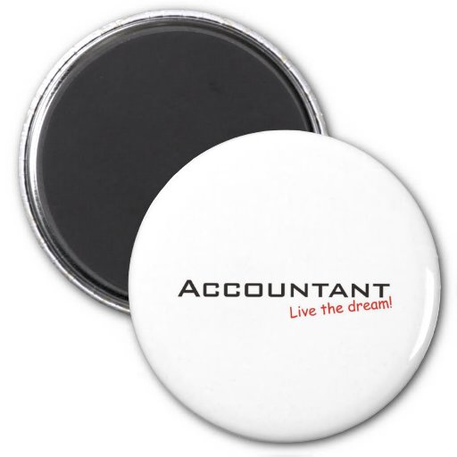 Dream / Accountant Refrigerator Magnets