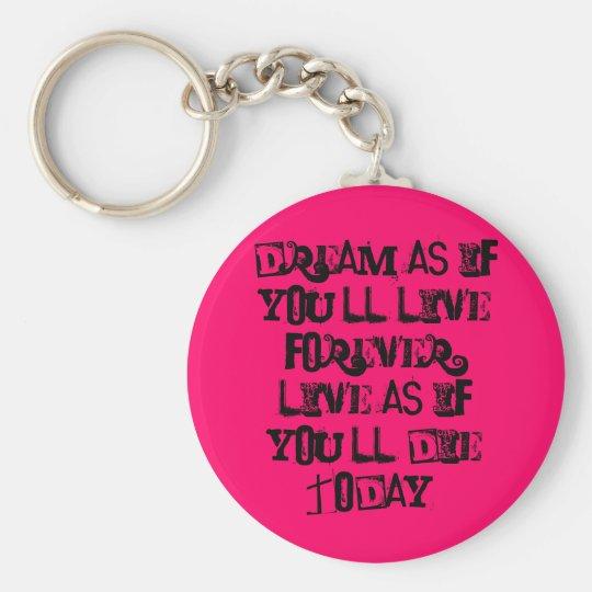 Dream.... Basic Round Button Key Ring