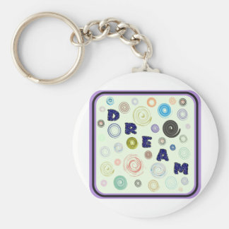 Dream Basic Round Button Key Ring
