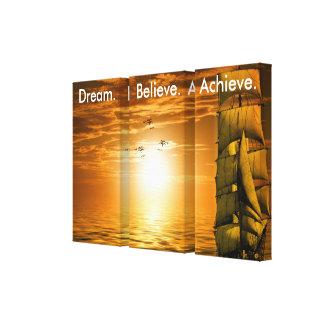 dream believe achieve motivation inspiration canvas print