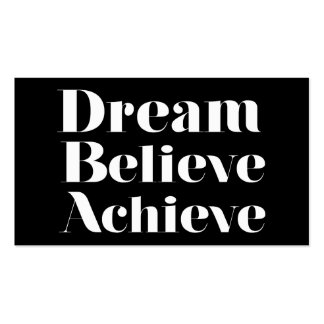 Dream Believe Achieve Pack Of Standard Business Cards