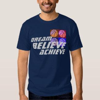 Dream Believe Achieve Pop Art Basketball T-shirt