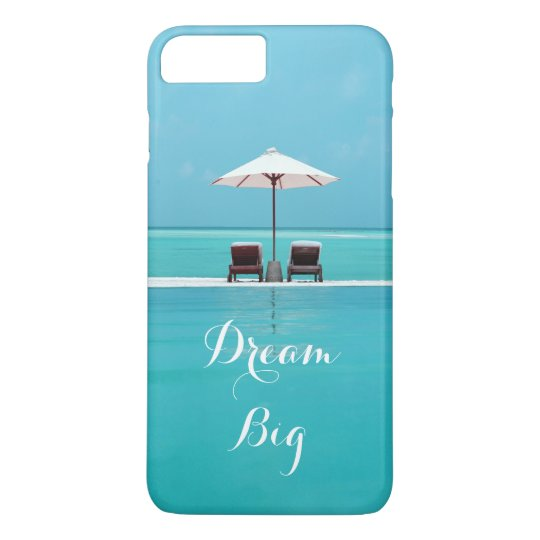 Dream Big Beautiful Blue Sky and Beach Pattern