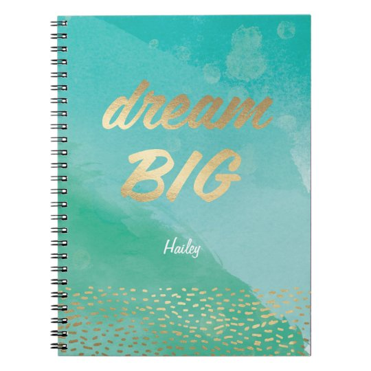 Dream BIG Blue Watercolor | Journal