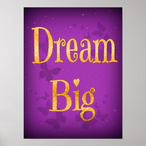 dream big butterflies inspirational quote poster zazzle