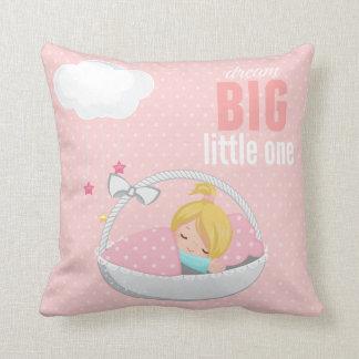 Dream big * choose background color throw pillow