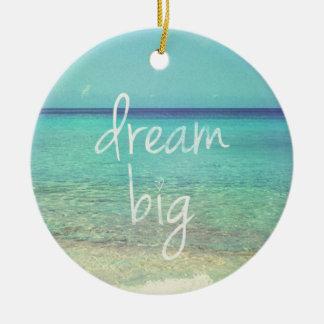 Dream big christmas ornament