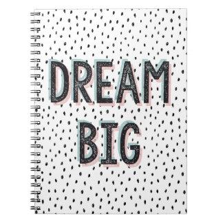 Dream Big Doodle Spot Spiral Notebook