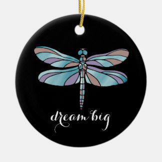 Dream Big Dragonfly Christmas Ornament